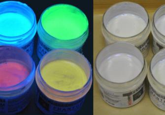 Невидимые флуоресцентные краски