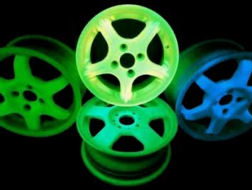 Покраска дисков светящейся краской